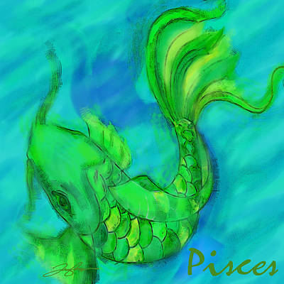 Painting - Pisces by Tony Franza