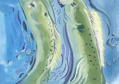 Painting - Pisces Tranquil Journey by Sheri Jo Posselt