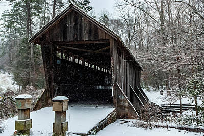 Photograph - Pisgah Covered Bridge - Modern by Matthew Irvin