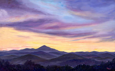 Blue Ridge Painting - Pisgah Evening by Jeff Pittman