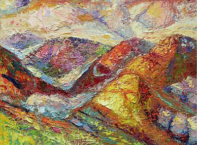 Plein Air Painting - Pisgah Forest Sunrise by Lisa Blackshear