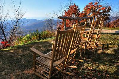 Pisgah Inn's Rocking Chairs Art Print