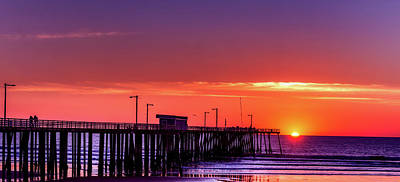 Photograph - Pismo Beach Pier At Sunset by L O C
