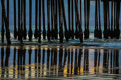 Pismo Beach Photograph - Pismo Beach Pier Posts by Garry Gay