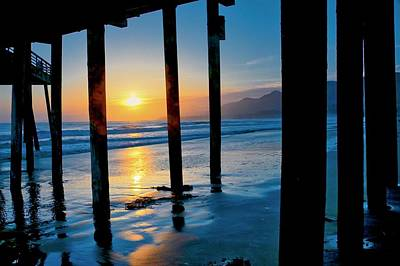Photograph - Pismo Beach Pier Sunset by Flying Z Photography by Zayne Diamond