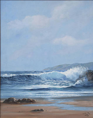 Painting - Pismo Beach Seascape 2 Original Oil Painting  by Clyde Owes