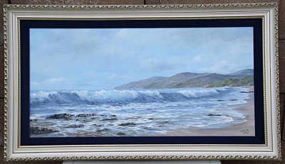 Painting - Pismo Beach Seascape Original Oil Painting by Clyde Owes