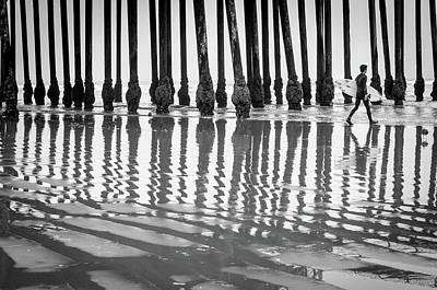 Photograph - Pismo Beach Surfer by Ralph Vazquez