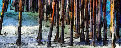 Photograph - Pismo Pier Pilings Abstract by Floyd Snyder