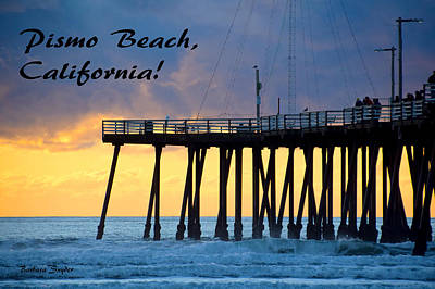 Pismo Beach Painting - Pismo Pier Pismo Beach California by Barbara Snyder