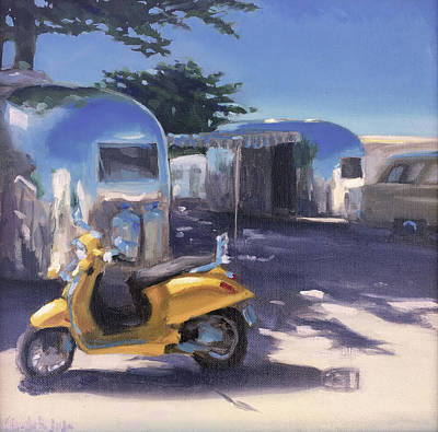 Painting - Pismo Vintage Rally by Elizabeth Jose