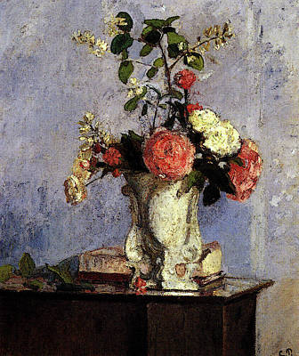 Pissarro Camille Bouquet Of Flowers Art Print by Camille Pissarro