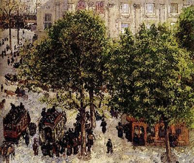 Pissarro Camille Place Du Theatre Francais Art Print by Camille Pissarro