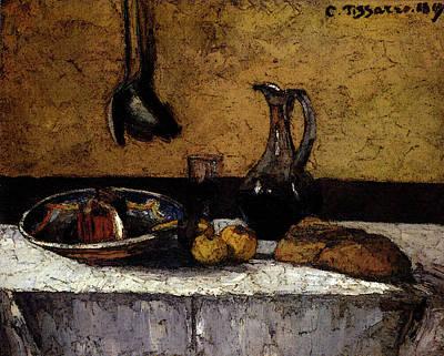 Pissarro Camille Still Life Art Print by Camille Pissarro