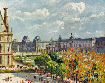Pissarro: Carrousel, 1900 Art Print
