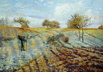 Pissarro Gelee Blanche  Hoarfrost  Art Print by Camille Pissarro
