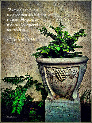 Photograph - Pissarro Inspirational Quote by Joan  Minchak