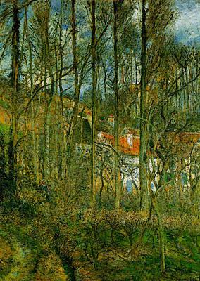 Pissarro La Cote Des Boeufs The Hermitage Art Print by Camille Pissarro