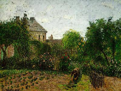 Pissarro The Artist S Garden At Eragny  Art Print