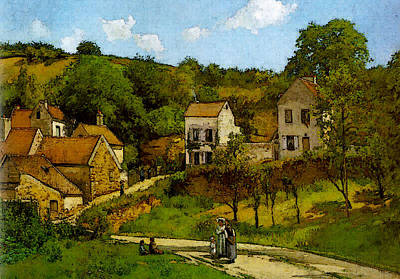 Pissarro The Hermitage At Pontoise Art Print by Camille Pissarro