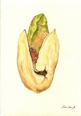 Kitchen Decor Painting - Pistachio by Juan  Bosco