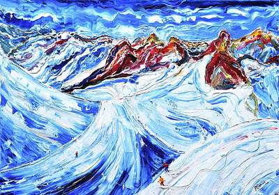 Painting - Piste 19 Off Piste St Anton by Pete Caswell