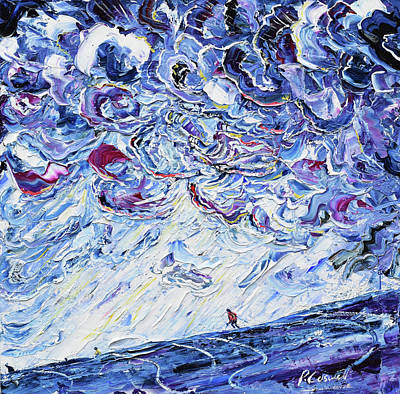 Painting - Piste 84 Emerging by Pete Caswell