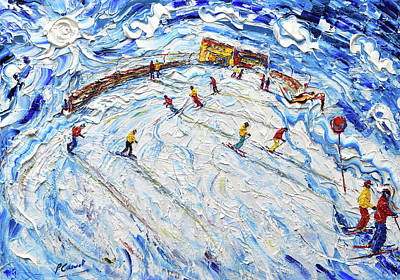 Painting - Piste 85 Schindlergrat Chair by Pete Caswell