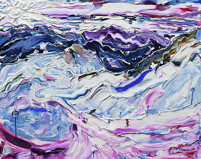 Painting - Piste 85 To Piste 100 by Pete Caswell