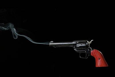 Photograph - Pistol Smoking by Dan Friend