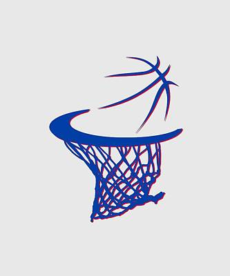 Pistons Basketball Hoop Art Print by Joe Hamilton