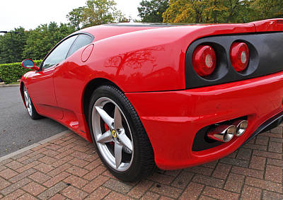 Photograph - Pistons In The Park - Red Ferrari 360 by Gill Billington