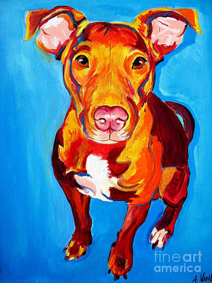 Pit Bull - Chino Art Print by Alicia VanNoy Call