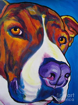 Pit Bull - Eric Art Print by Alicia VanNoy Call