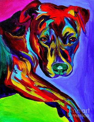 Dawgart Painting - Pit Bull - Gaze by Alicia VanNoy Call