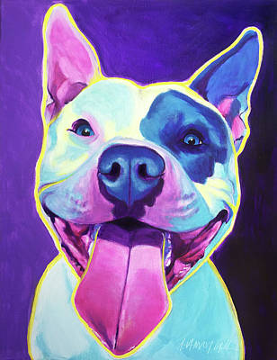 Pit Bull - Big Louie Original by Alicia VanNoy Call