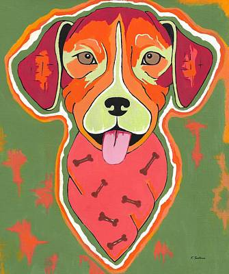 Painting - Pit Bull by Kathleen Sartoris