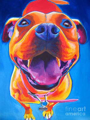 Bull Terrier Painting - Pit Bull - Lots To Love by Alicia VanNoy Call