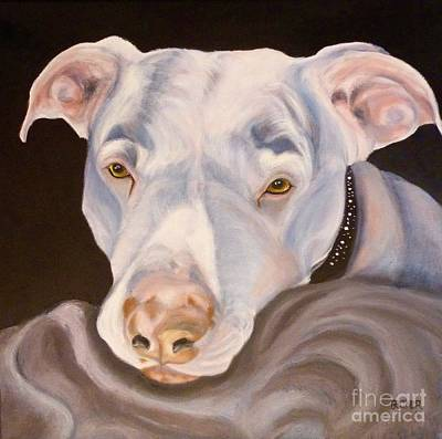 Painting - Pit Bull Lover by Susan A Becker