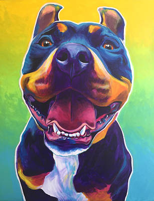 Pit Bull - Maya Original by Alicia VanNoy Call