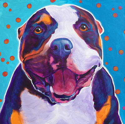 Pit Bull - Mayhem Original by Alicia VanNoy Call