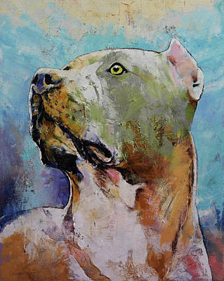 Pitbull Painting - Pit Bull by Michael Creese