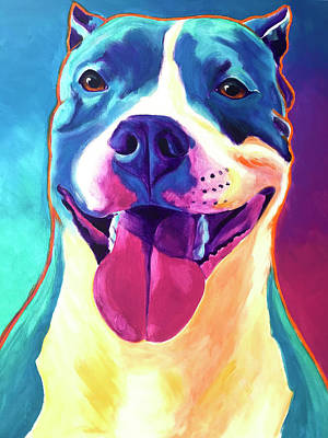 Painting - Pit Bull - Popcorn by Alicia VanNoy Call