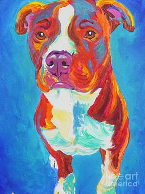 Pit Bull - Puppy Dog Eyes Art Print by Alicia VanNoy Call