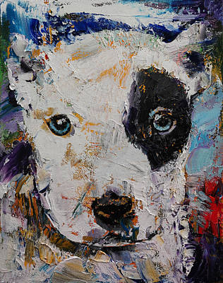 Pitbull Painting - Pit Bull Puppy by Michael Creese