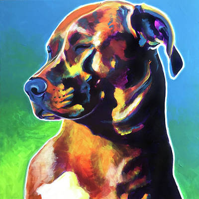 Painting - Pit Bull - Twyla by Alicia VanNoy Call