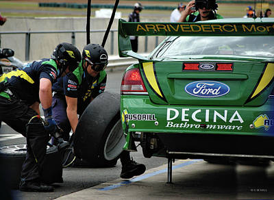 Australian Ford Photograph - Pit Crew by Cheryl Hall