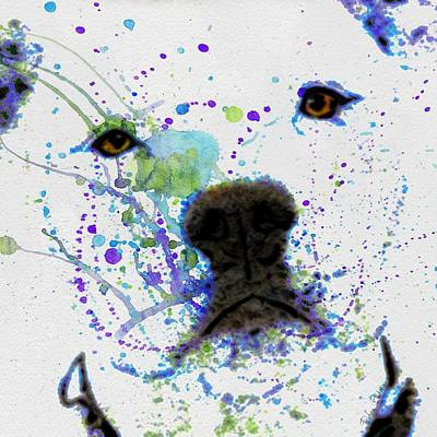 Pup Digital Art - Pit In Paint by Barbara Chichester