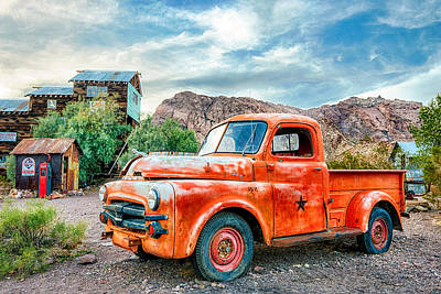 Old Trucks Photograph - Pit Stop by Aron Kearney