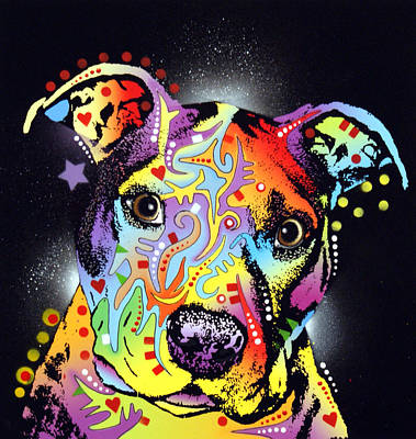 Pitbull Wall Art - Painting - Pitastic by Dean Russo